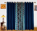 Dekor World Circle Bonanza With Solid Window Curtain - Pack Of 3