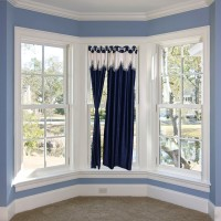 JH Decore Polyester Navy Blue Plain Eyelet Door Curtain 215 Cm In Height, Single Curtain