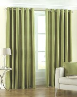 Homefab India Polyester Window Curtain (Pack Of 2, 59 Inch/152 Cm In Height, Green)