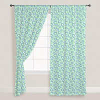 Smart Home Textile Cotton Green Door Curtain 210 Cm In Height, Single Curtain - CRNE7NHRABYQEGPG