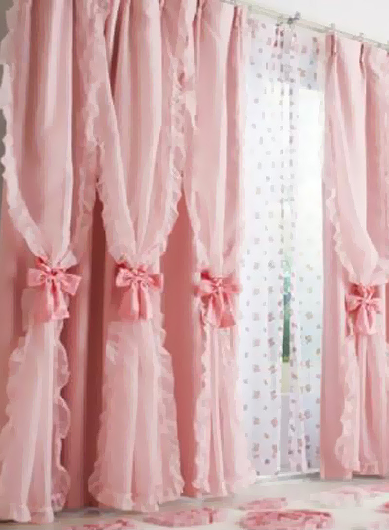 Schwof cotton pink geometric eyelet door curtain buy for Where to buy curtains online