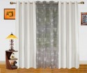 Dekor World Paris Print With Solid Window Curtain
