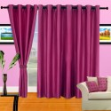 Cortina Plain Crush Door Curtain - Pack Of 2