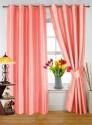 Dekor World Plain Peach Door Curtain