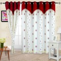Cortina Embroidery Shear Curtain With Linning Window Curtain - Pack Of 2 - CRNDXV33QZQZVH2G