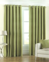 Neelgiri Silk Multicolour Plain Curtain Window & Door Curtain 213 Cm In Height, Pack Of 2
