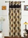 Dekor World Big Leaf Lace Collection Door Curtain