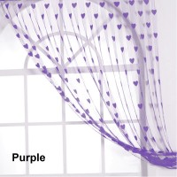 Jars Collections Polyester Purple Self Design Eyelet Door Curtain 210 Cm In Height, Pack Of 2