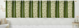 Stella Creations Polyester Green Printed Curtain Window Curtain
