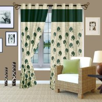 Story @ Home Jacquard Green Window Curtain 145.2 Cm In Height, Single Curtain