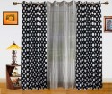 Dekor World Polka Dots And Sheer Combo Door Curtain