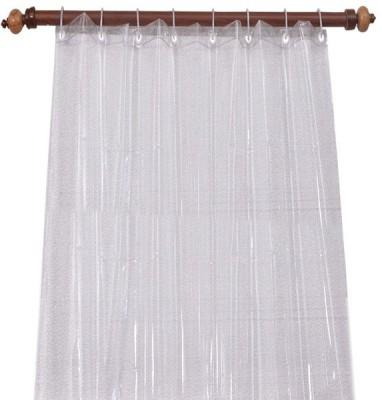 Joli PVC Transparent Plain Curtain Door Curtain 214 Cm In Height, Single Curtain