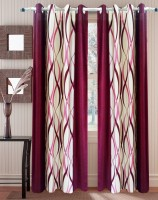 Homefab India Polyester Door Curtain (Single Curtain, 83 Inch/212 Cm In Height, Maroon)