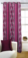 Fabutex Polyester Door Curtain (Single Curtain, 82 Inch/210 Cm In Height, Pink)