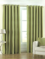 Fresh From Loom Polyester Green Plain Curtain Door Curtain 212 Cm In Height, Pack Of 2 - CRNEHWMGFE9CX9GG