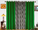 Dekor World Waves in the Air With Solid Door Curtain - Pack of 3 - CRNDXM38GJ3BJDMJ