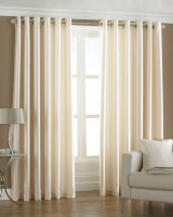 Pindia 7ft Faux Silk Plain Door Curtain