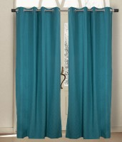 House This Cotton Green Door Curtain 210 Cm In Height, Single Curtain