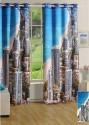 Swayam Digitally Printed Cosmo Fashion Door Curtain - CRNDUH4AFSMFJKHJ
