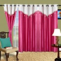 Cortina Plain Drape Window Curtain - Pack Of 2 - CRNDXV33DZ2ZD7Z3