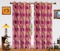 Dekor World Sprial World Window Curtain - Pack Of 2