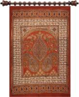 Ganesh Kalamkari Cotton Multicolor Printed Door Curtain 90 Cm In Height, Single Curtain