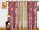 Dekor World Damask Eyelet Window Curtain - Pack Of 3