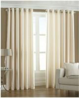NEELGIRI Satin MULTICOLOUR Plain Eyelet Door Curtain 213 Cm In Height, Pack Of 2