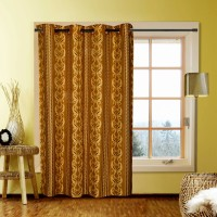 Kings Polycotton Multicolor Printed Eyelet Window Curtain 152 Cm In Height, Pack Of 2