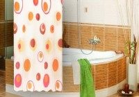 R Home Polyester Multicolour Printed Ring Rod Shower Curtain 200 Cm In Height, Single Curtain - CRNEMZHFYZDPGNQH