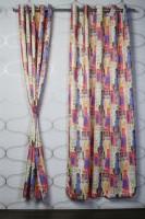 Titu Polyester Multicolor Door Curtain 213.36 Cm In Height, Single Curtain