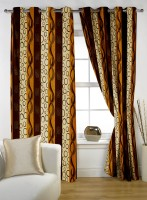 Story @ Home Polyester Multicolor Door Curtain 210 Cm In Height, Single Curtain - CRNE4M5SRBRFMPJ3