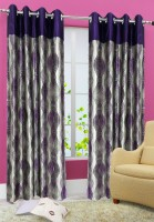 Homefab India Polyester Window Curtain (Pack Of 2, 59 Inch/152 Cm In Height, Purple)