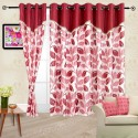 Cortina Flora Window Curtain - Pack Of 2 - CRNDYTKJHYFCGYYN