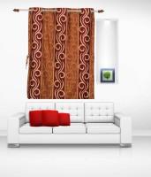 Sai Arpan Polyester Maroon Door Curtain 213 Cm In Height, Single Curtain