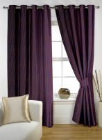 Story @ Home Polyester Purple Door Curtain 210 Cm In Height, Single Curtain