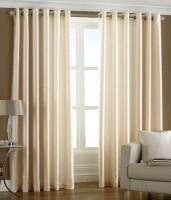 D?cor Vatika Polyester Door Curtain (Single Curtain, 108 Inch/275 Cm In Height, Beige)