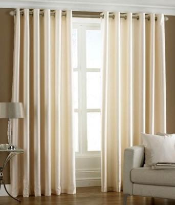 Hargunz Crush 7 Feet Door Curtain (Pack Of 2)