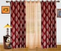 Dekor World Damask Design And Sheer Combo Window Curtain - CRNDQAY6GUHMGRZ2
