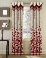 Story @ Home Jacquard Multicolor Window Curtain 145.2 Cm In Height, Single Curtain