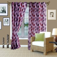 Story @ Home Polyester Purple Window Curtain 152 Cm In Height, Single Curtain