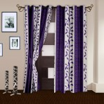 Story @ Home Story @ Home Polyester Brown Printed Eyelet Curtain