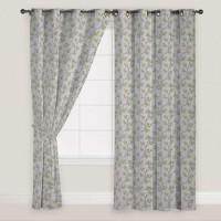 Presto Polyester Green, Grey Window Curtain 150 Cm In Height, Single Curtain