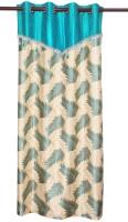 Zikrak Exim Polyester Door Curtain (Single Curtain, 84 Inch/215 Cm In Height, Blue)