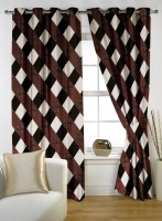 Story @ Home Polyester Brown Door Curtain 210 Cm In Height, Single Curtain