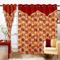 Cortina Print Drape Door Curtain - Pack Of 2 - CRNDXV33DHWCTUCC