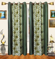 Decor Bazaar Panelled Flowers Window Curtain