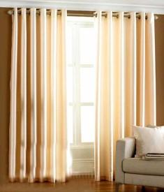 Pag Polyester Plain Cream Plain Eyelet Door Curtain