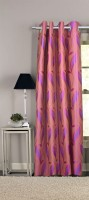 Trendy Home Polyester Pink Door Curtain 210 Cm In Height, Single Curtain