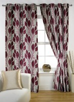 Story @ Home Polyester Maroon Printed Door Curtain 210 Cm In Height, Pack Of 2 - CRNE4ANHFCGZFGDF